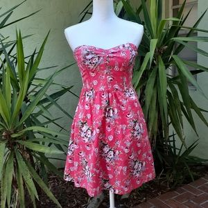 Strapless Mini Pink Summer Dress New